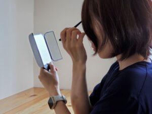 セリア 2WAYハンドミラー三面鏡